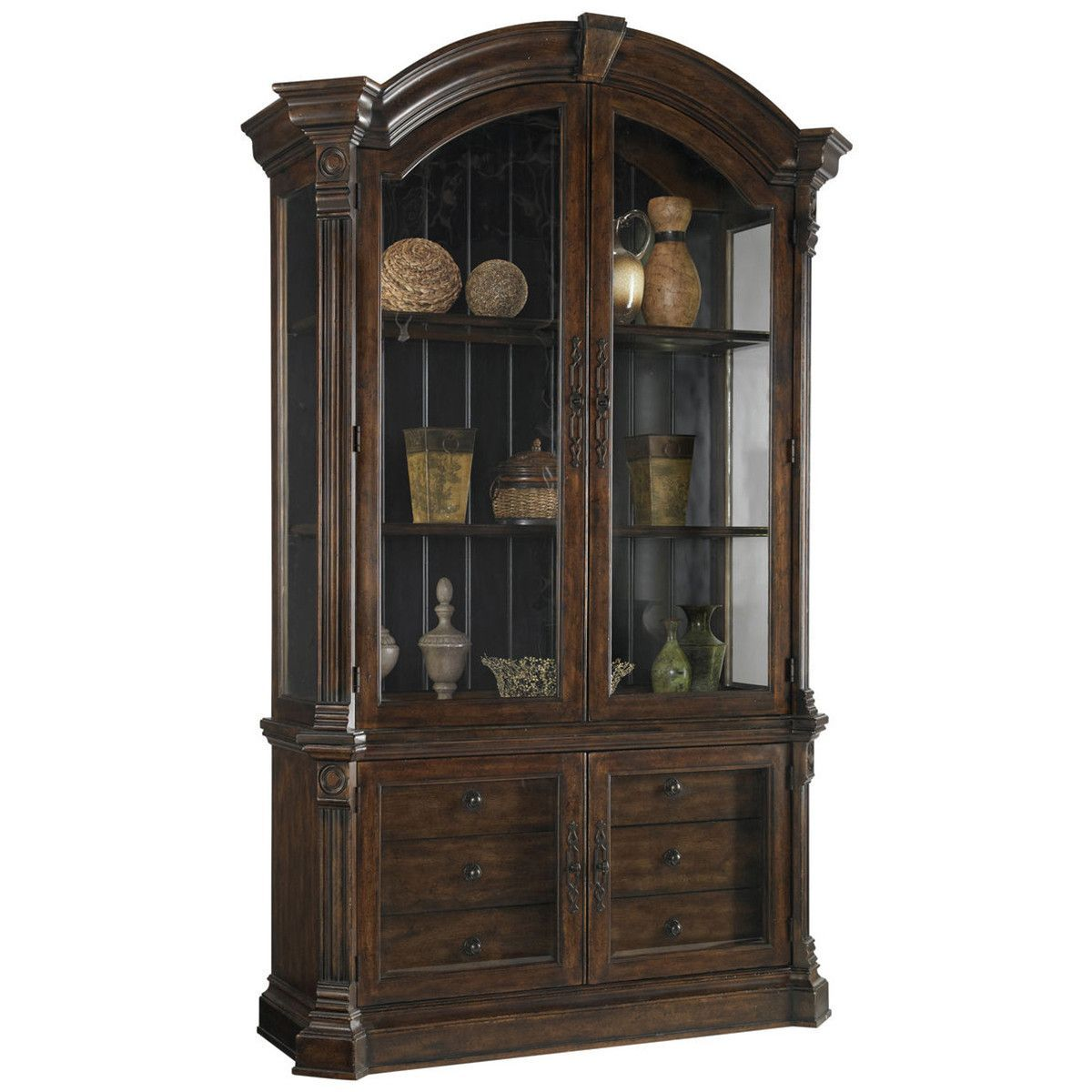 Art furniture whiskey oak display china decor