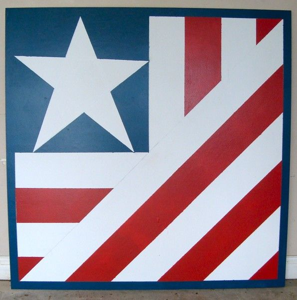 american flag barn quilt by tiffin