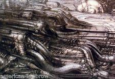 HR Giger Art Poster Print Devil Baphomet Biomechanical Landscape Alien Robot