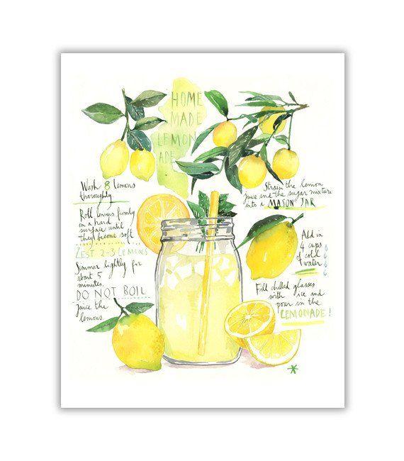 Homemade lemonade recipe   Food-Art   Hausgemachte ...  Homemade lemona...
