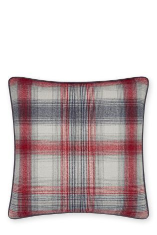 Buy Cosy Red Check Cushion online today at Next Rep of