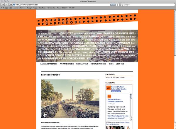 Fahrradgarderobe Webseite