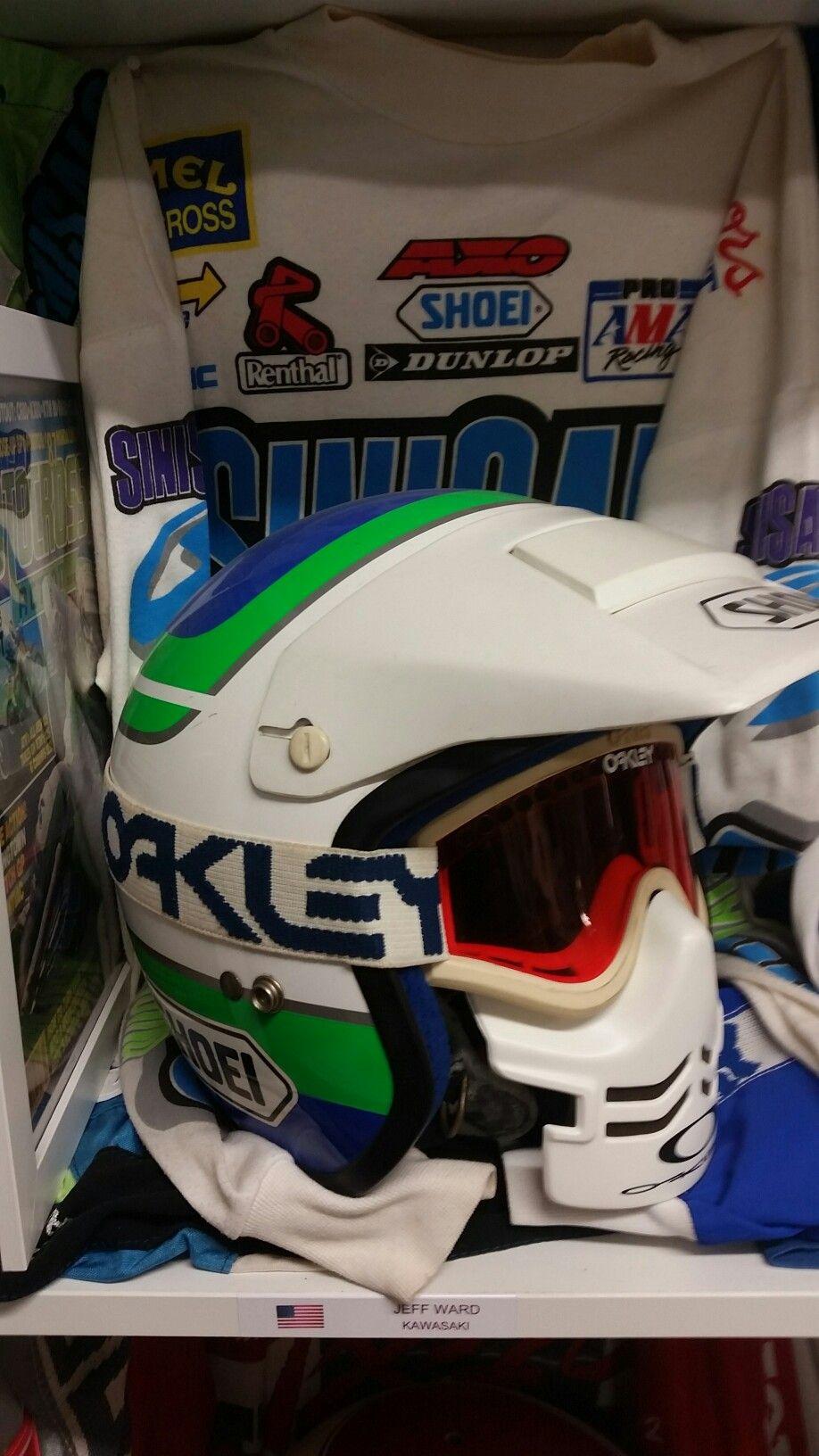 Jeff Ward Helmet Replica Vintage Motocross Racing Helmets Vintage Helmet