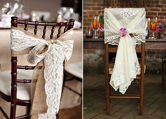 Ideas para decorar tu boda con encaje decoraci n sillas for Sillas para bodas