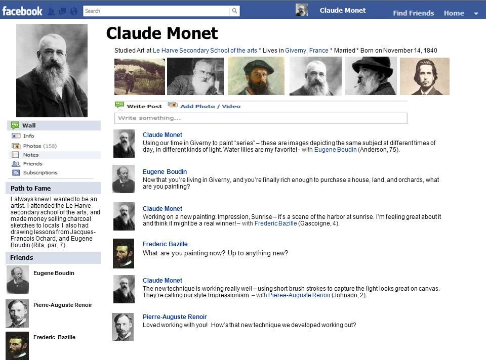 Facebook Template using Powerpoint ~ very cool for biography or - biography template