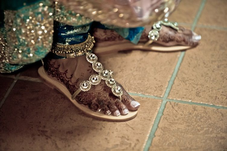 sparkle wedding sandels | Vintage Chic Muslim Wedding - Straylight Photo