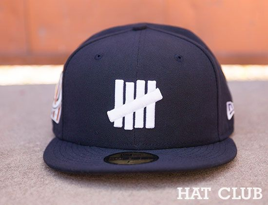 Navy Patch 5 Strike 59Fifty Fitted Cap by UNDEFEATED x NEW ERA   HAT CLUB 71b2b3d8568