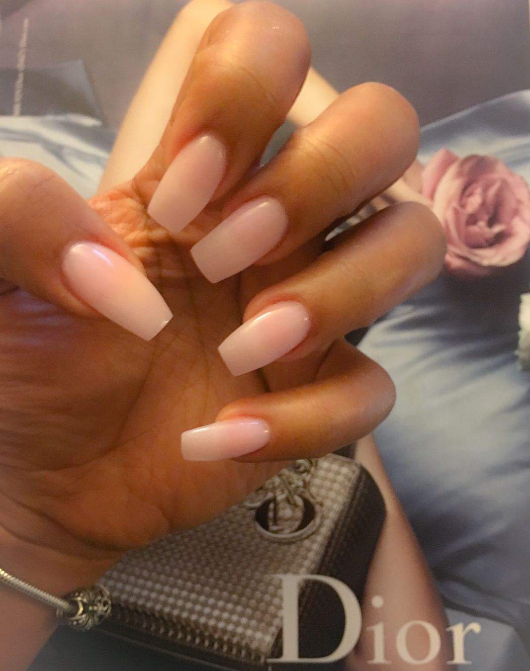 My Pink Acrylic With Nexgen Natural Acrylic Nails Pink Acrylic Nails Nexgen Nails