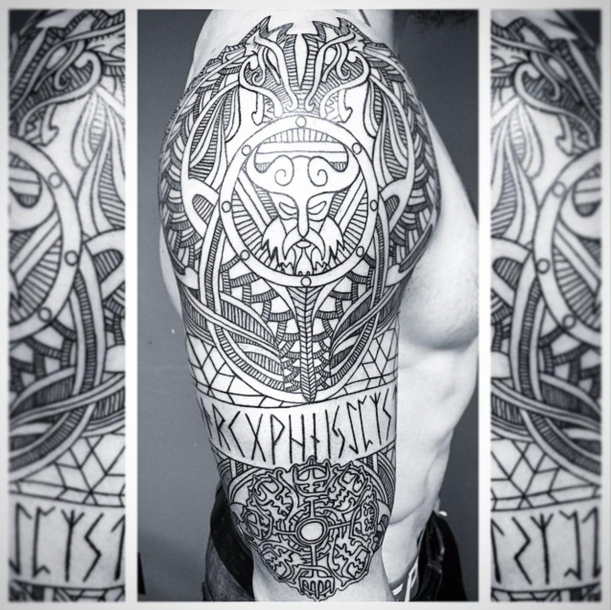 Fotografiya Wikinger Tattoos Wikinger Tattoo 14
