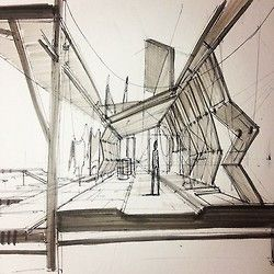 Tannery interior sketch architecture I N T E R I