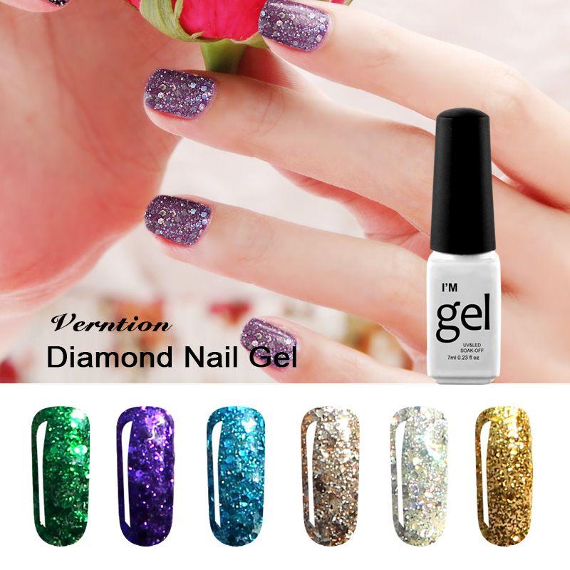 Verntion 2017 New Arrival Diamond Glitter UV Gel Nail Art ...