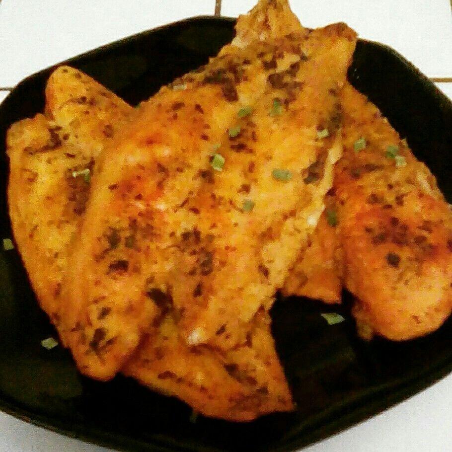 Baked lemon pepper swai fish butter seasoning salt