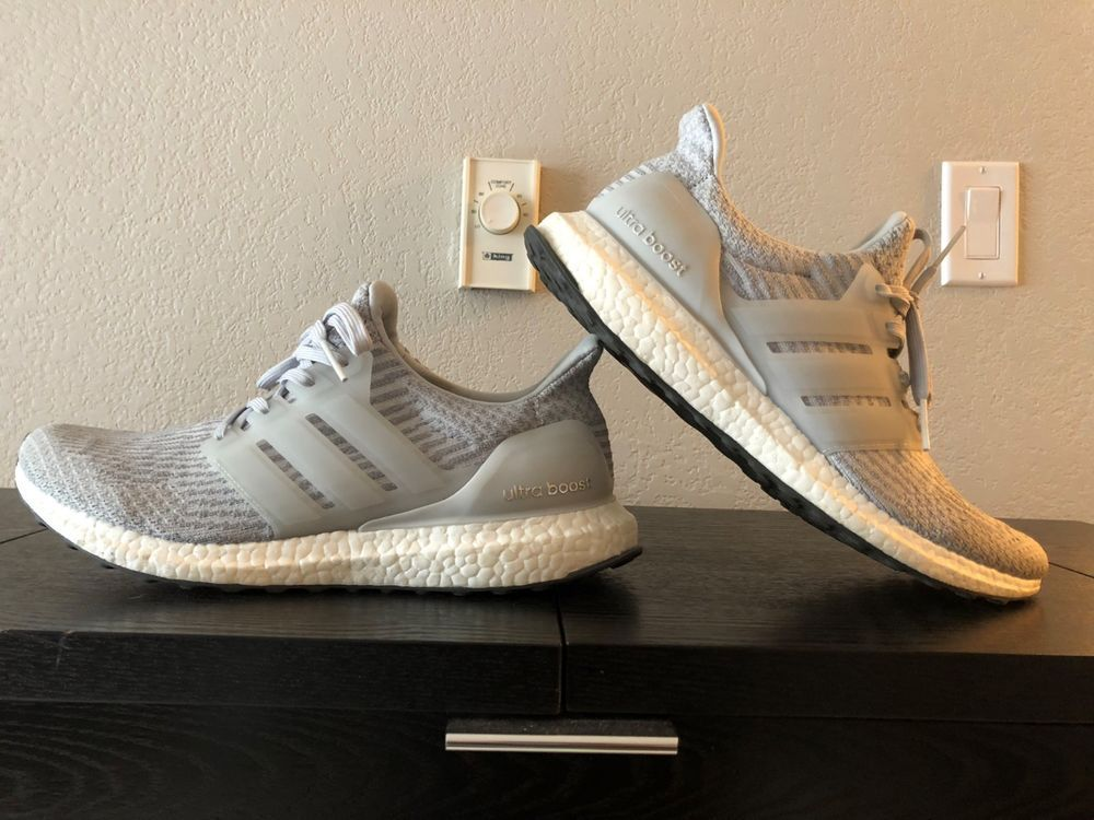 5b256c251 men s adidas ultra boost 3.0 grey white sz. 10m  fashion  clothing  shoes   accessories  mensshoes  athleticshoes (ebay link)