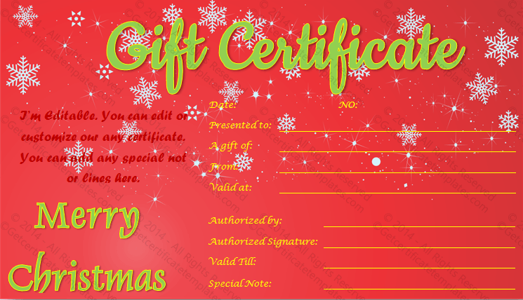 Doc670270 Christmas Gift Certificates Templates 17 Best – Printable Christmas Gift Certificates Templates Free