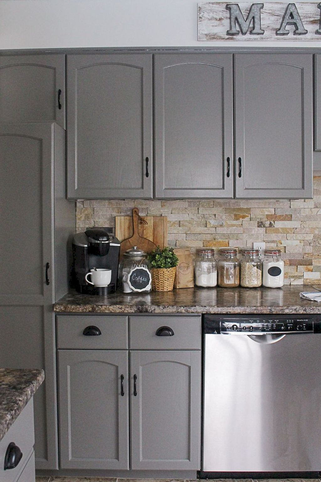 best rustic farmhouse gray kitchen cabinets ideas 61 kitchen cabinets makeover new kitchen on farmhouse kitchen grey cabinets id=68722