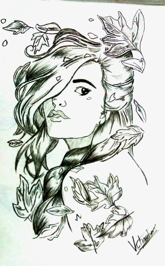 Cute girl sketch :- made by me