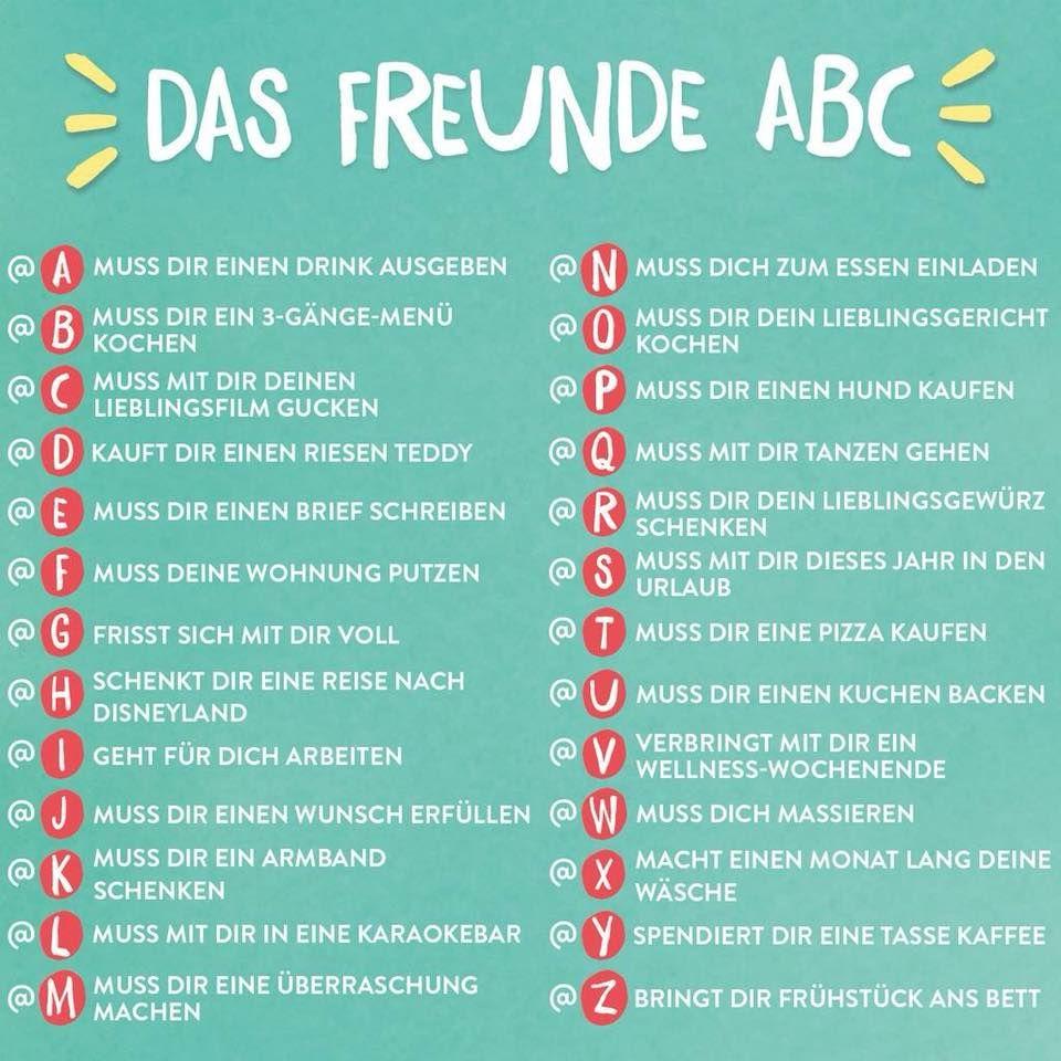 abc sprüche Das Freunde ABC | Sprüche | Funny abc sprüche