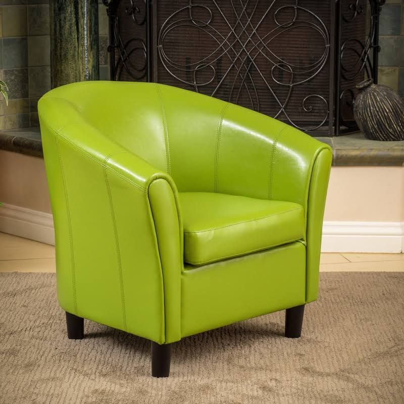 Google Express Napoli Lime Green Bonded Leather Club