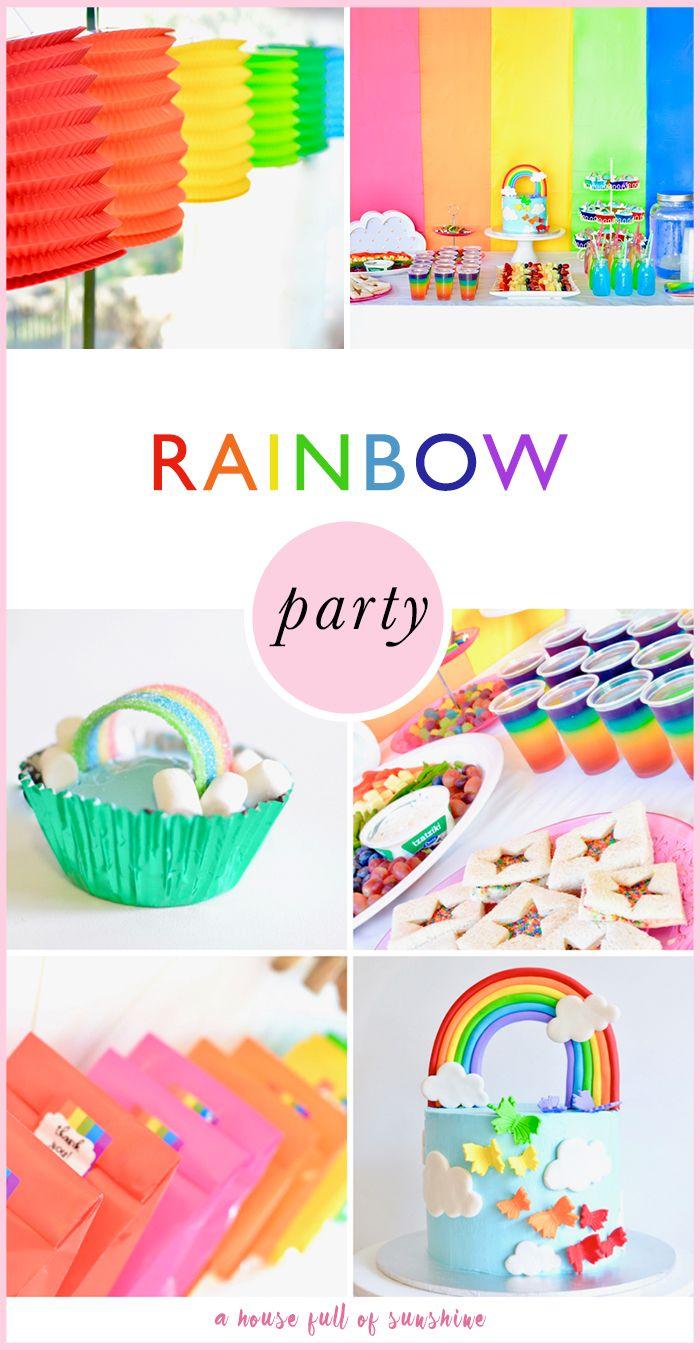 Rainbow birthday party   Rainbow birthday parties, Rainbow birthday ...