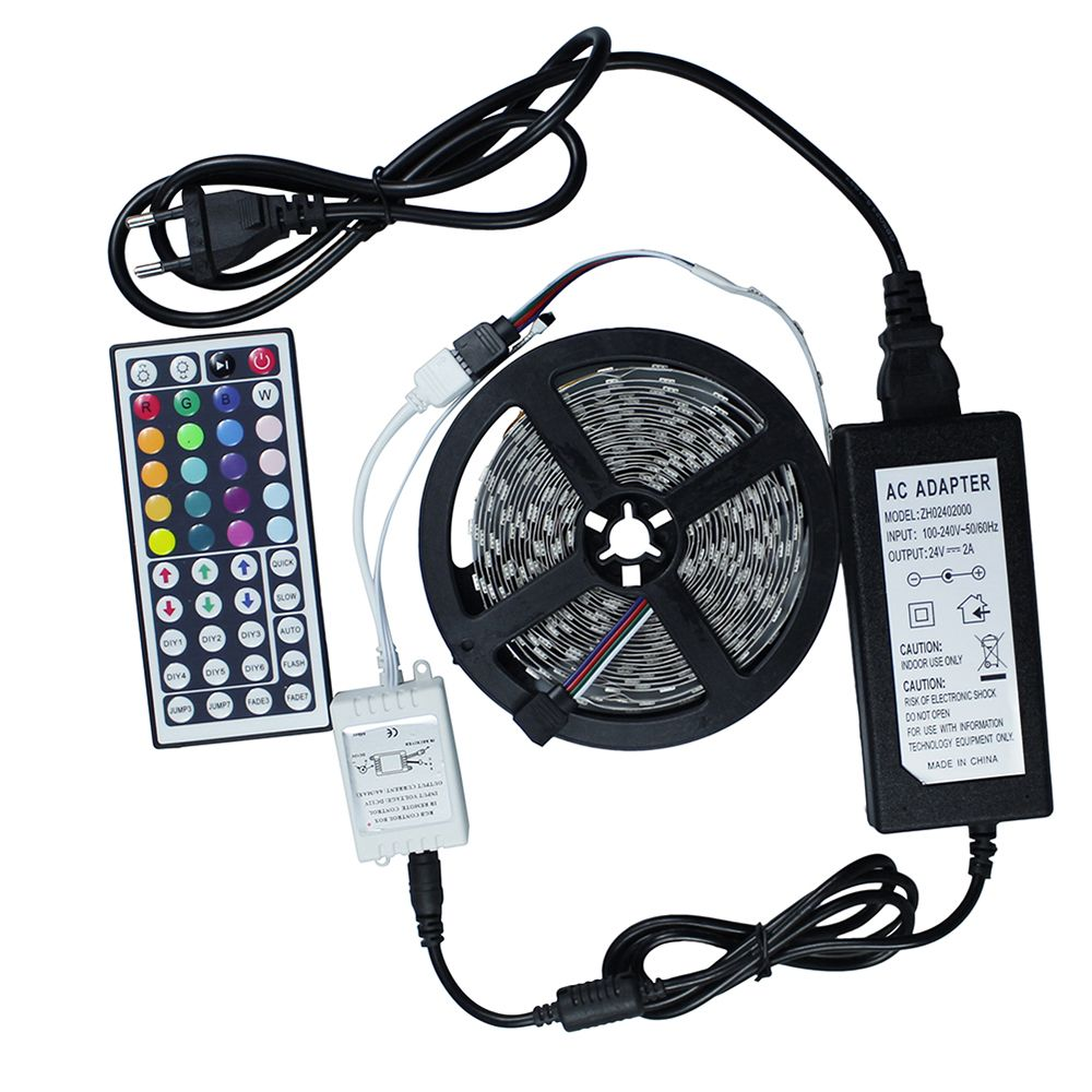 Led Light Strips With Remote Dc24V 5M 300 Led 5050 High Quality Led Strip Flexible Light Tape