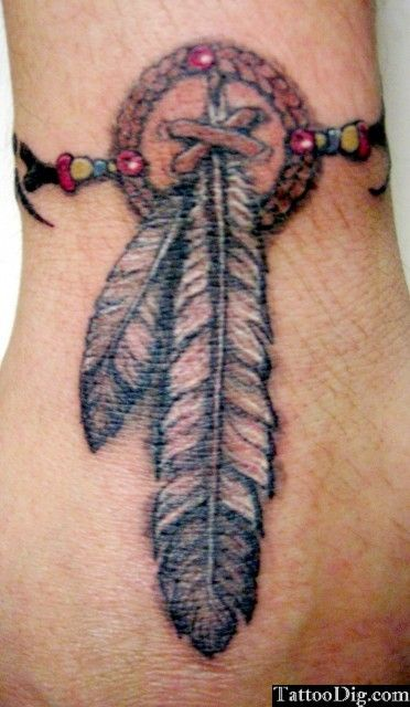 Native American Feather Tattoos Indian Native American Feather