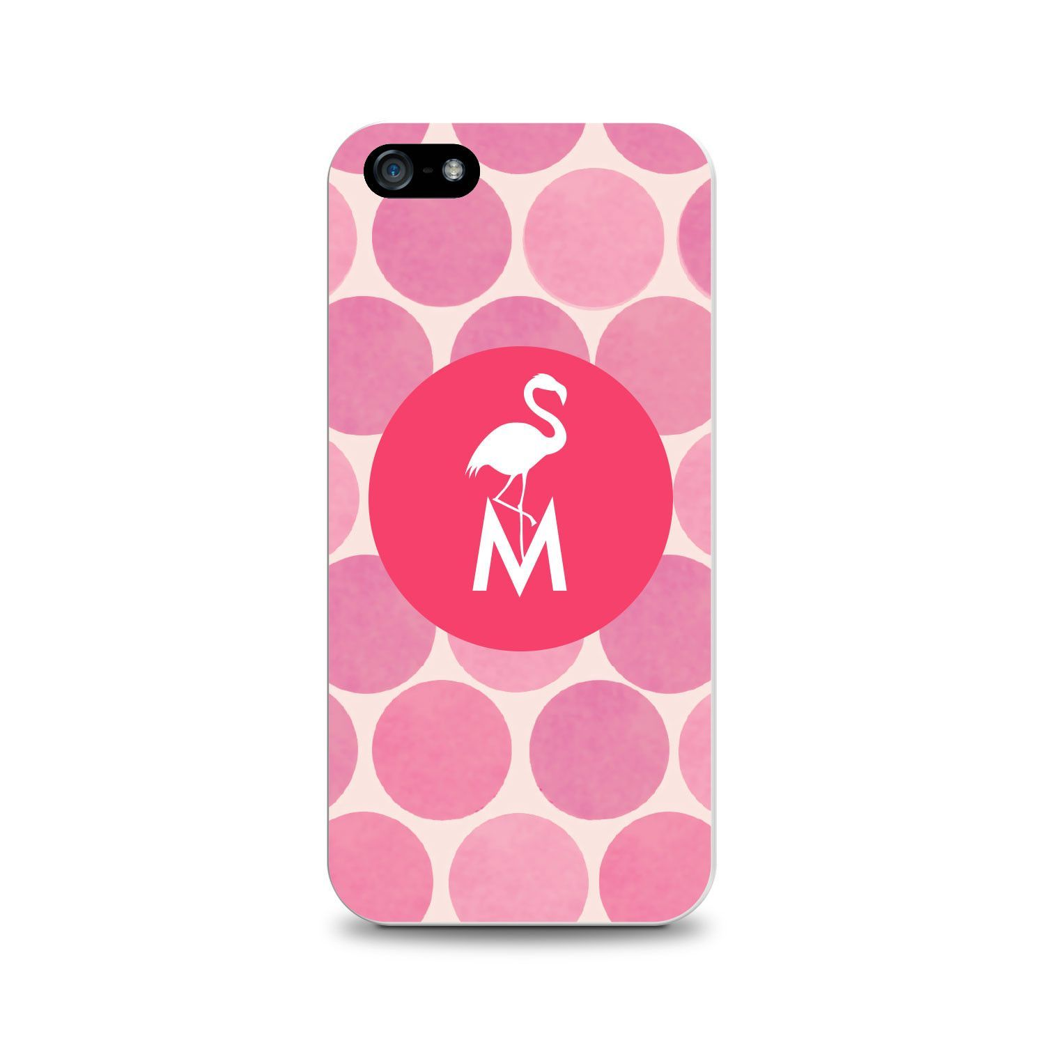 OTM Critter Collection iPhone 5 Case, DOTS, Pink Flamingo- M