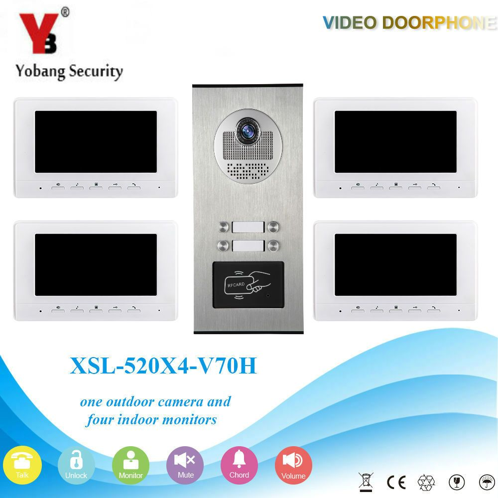 YobangSecurity 7 Inch Color Wired Video Door Phone