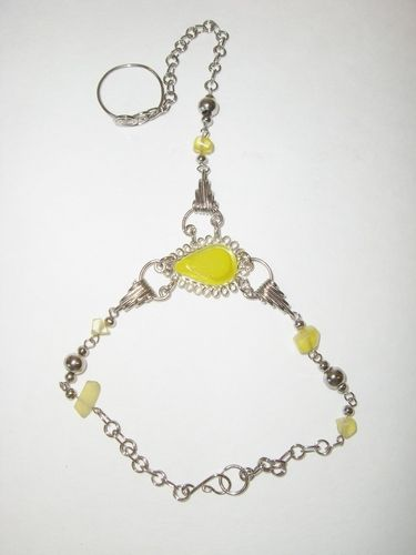 Slave Bracelet Beaded and Peruvian Glass Jewelry Yellow. Starting at $1