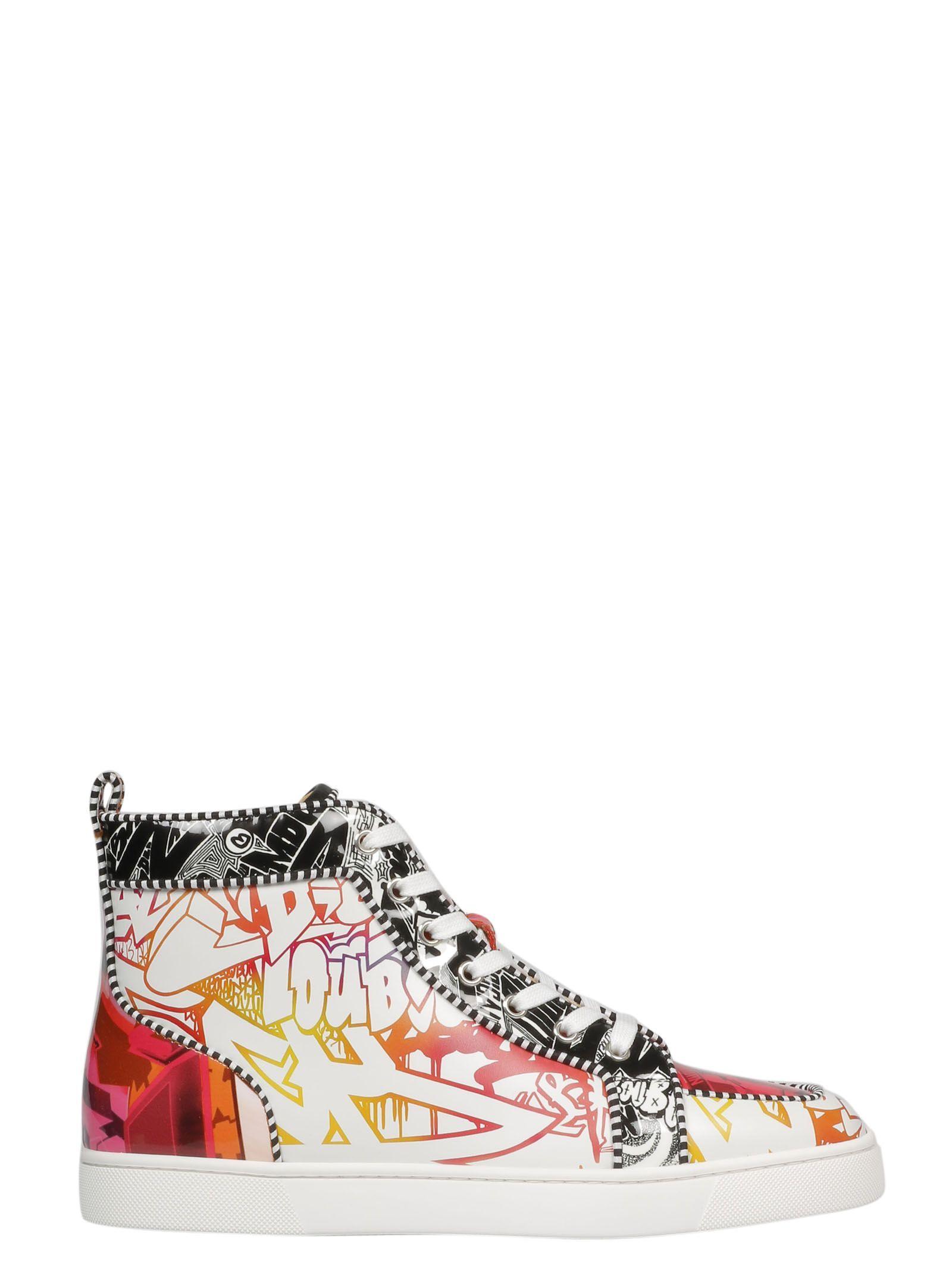 a42d6c58045b CHRISTIAN LOUBOUTIN PRINTED HI-TOP SNEAKERS.  christianlouboutin  shoes