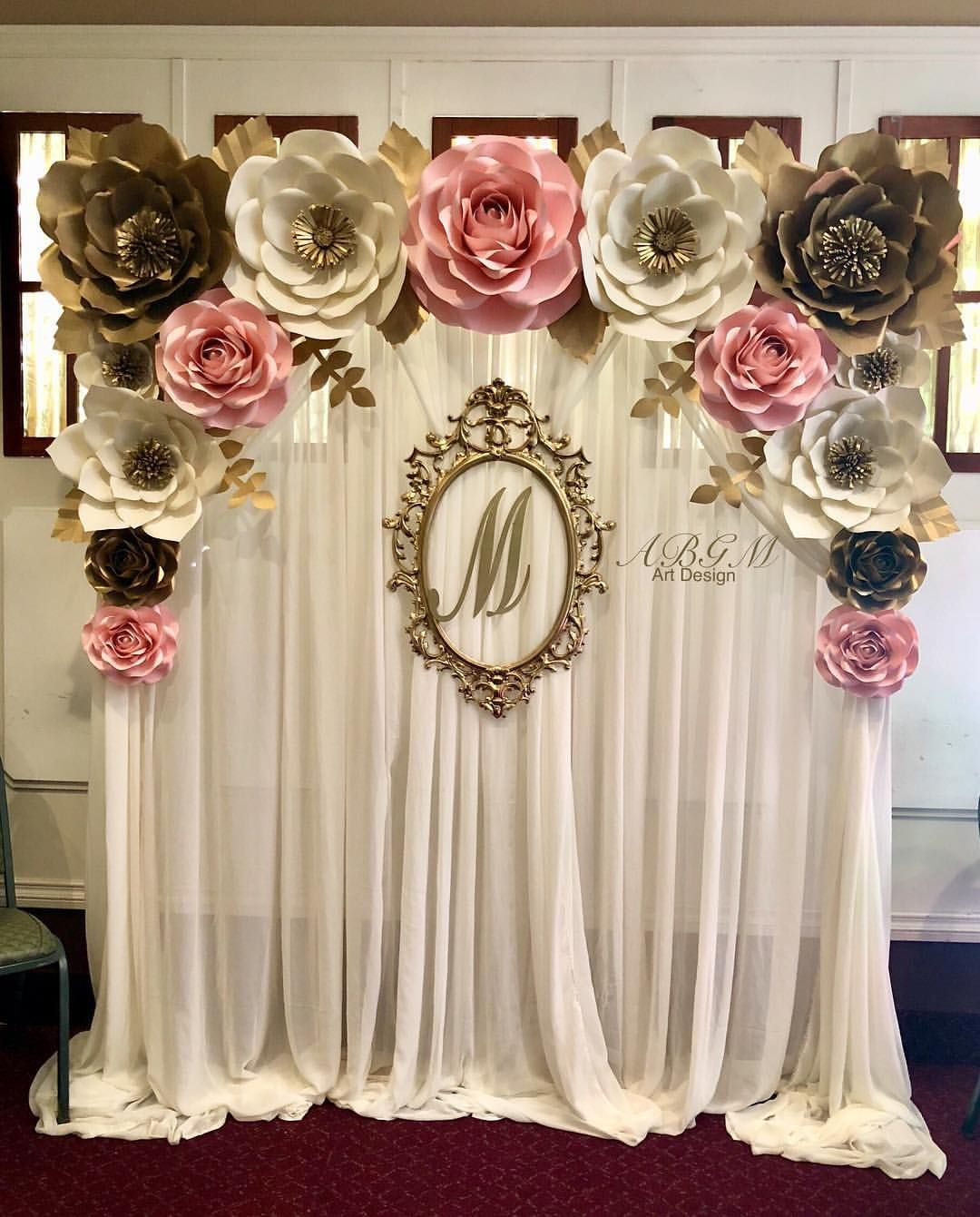 Blanca On Instagram Another Beautiful Paper Flower Backdrop Made For Melissa S Wedding Shower Thank You In 2020 Paper Flower Backdrop Paper Flowers Flower Backdrop
