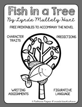 Collection of FREE printables to accompany the book Fish in a Tree by Lynda Mullaly Hunt