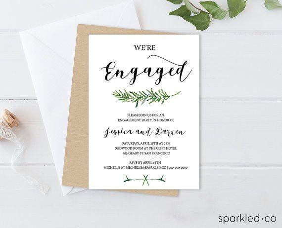 Engagement Invitation Template Printable Engagement Invitati Free Engagement Party Invitations Templates Engagement Invitations Engagement Invitation Template