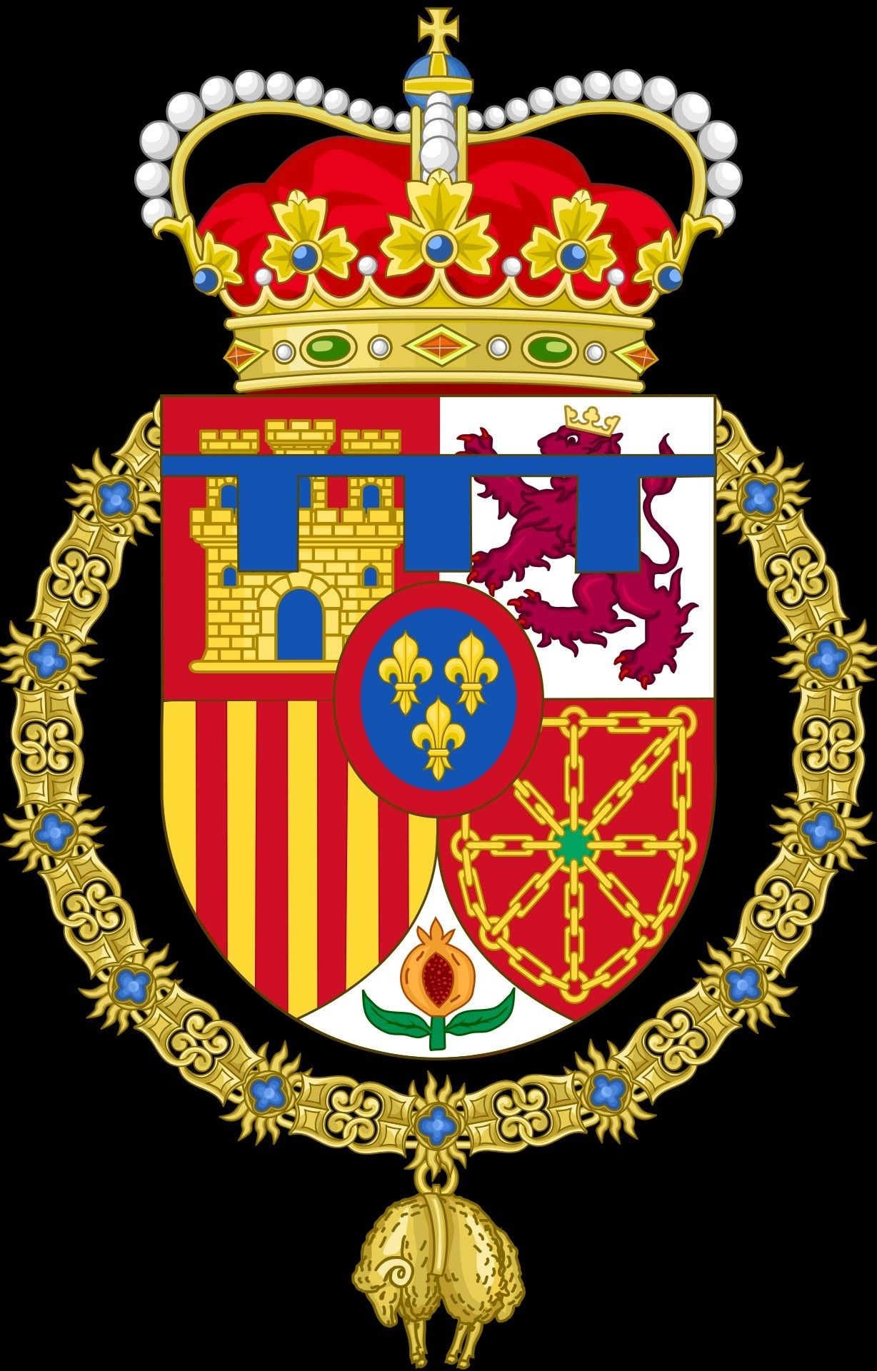Princesa De Asturias Coat Of Arms Heraldry Spanish Royal Family