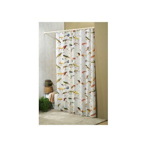 Antique Fishing Lure Shower Curtain Sports
