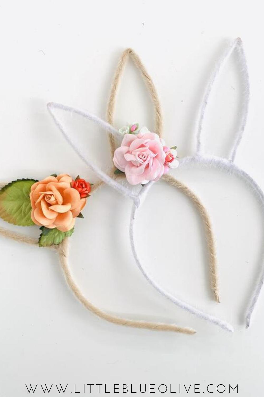 Spring Bunny Ear Headband Bunny Ear Headband Floral Bunny Etsy Easter Bunny Ears Headband Bunny Ears Headband Spring Bunny