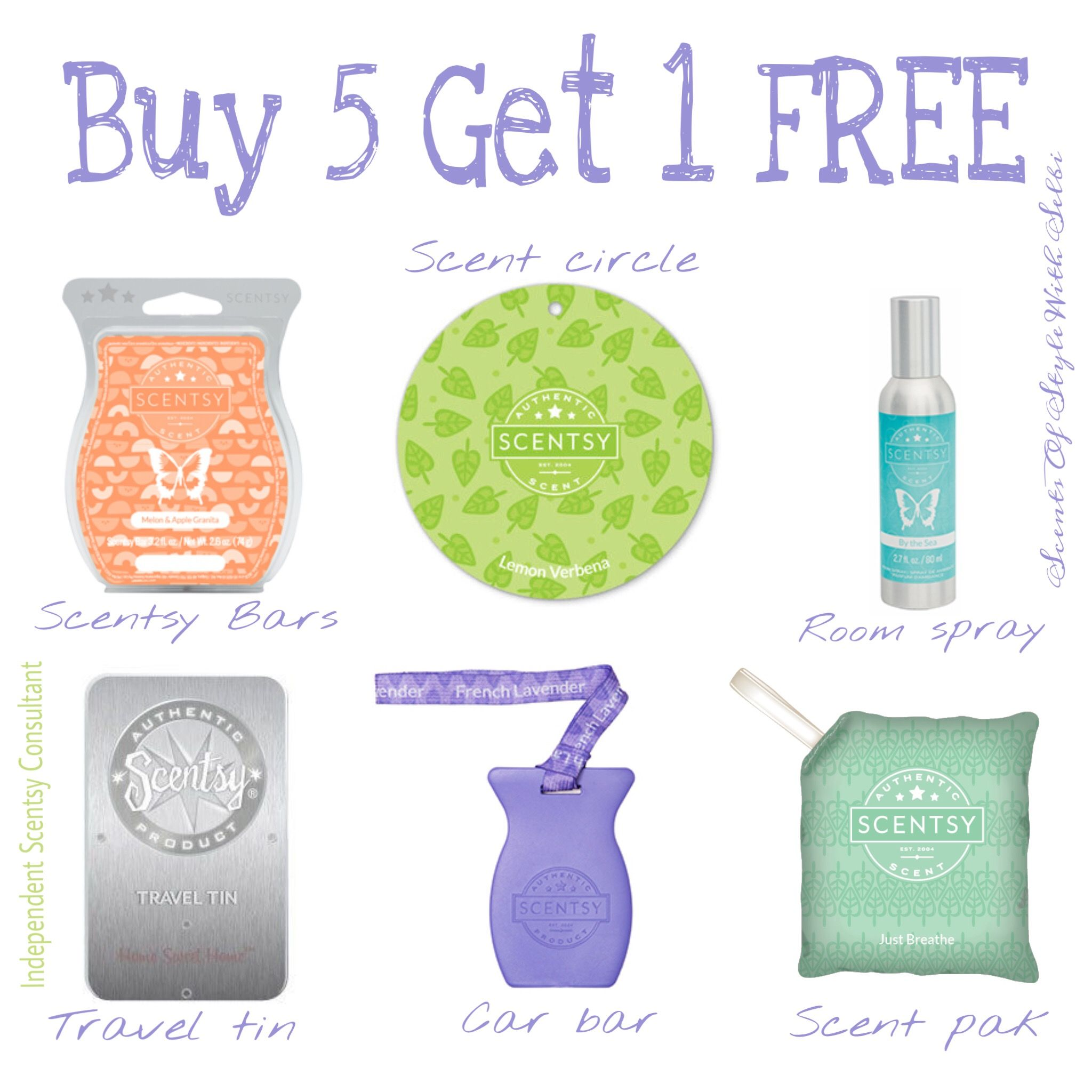 Scentsy Buy 5 Get 1 Free With Images Scentsy