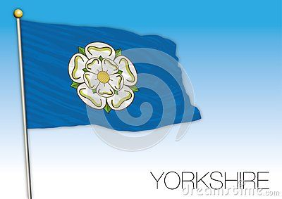 Yorkshire Flag And Symbol Scotland United Kingdom Vector Illustration Uk Yorkshire Flag Vector Illustration Flag