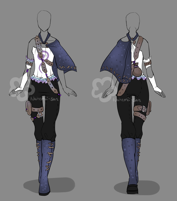 Fantasy Outfit 2 Closed By Nahemii San On Deviantart Fantasy Clothing Anime Outfits Art Clothes