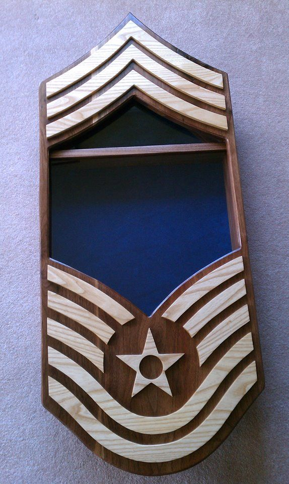 Air Force Chief Master Sergeant shadow box https//www