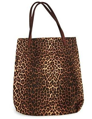 Lucky Brand Leopard Print Canvas Tote Coolfashionaccessories