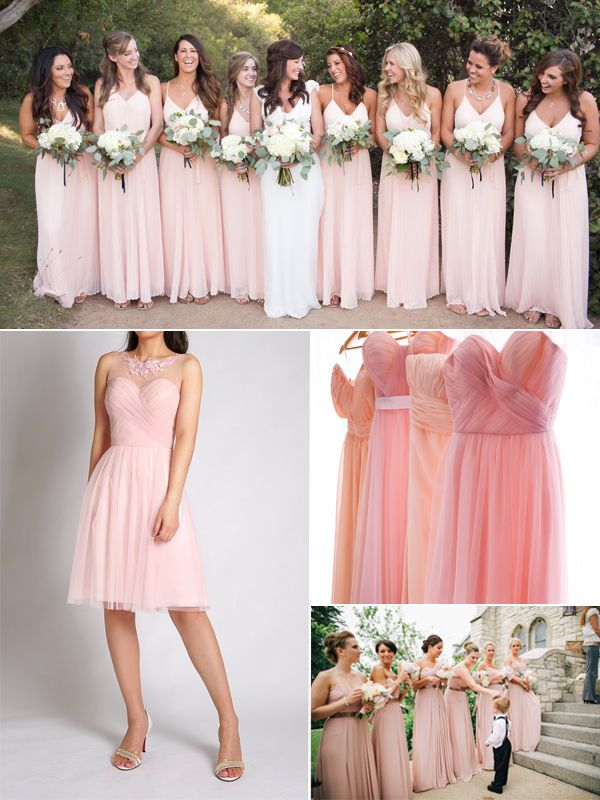 Top 10 Colors for Bridesmaid Dresses | Blush pink bridesmaids ...