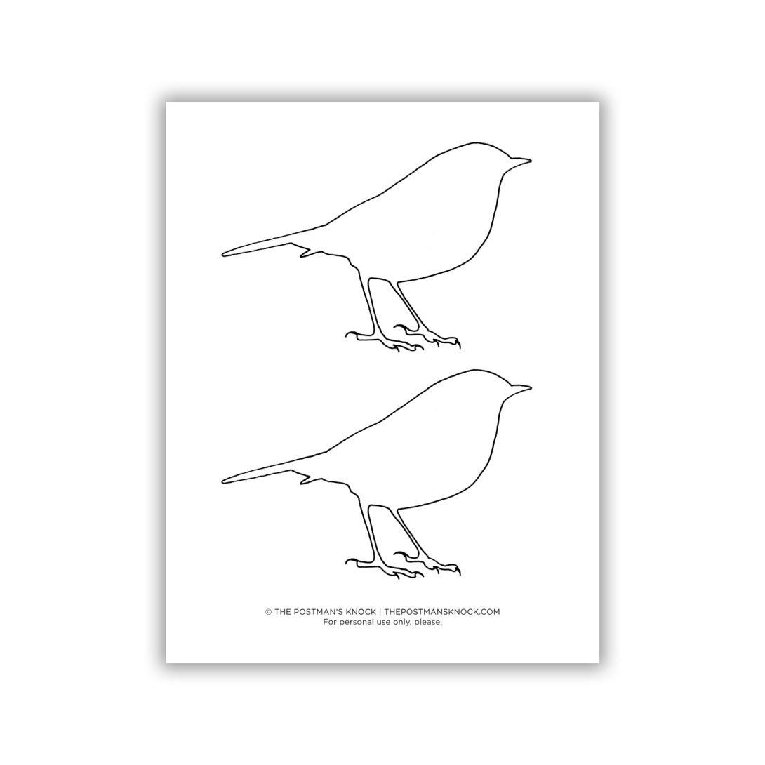 Printable Bluebird Outline Free Printable Artwork Postman S