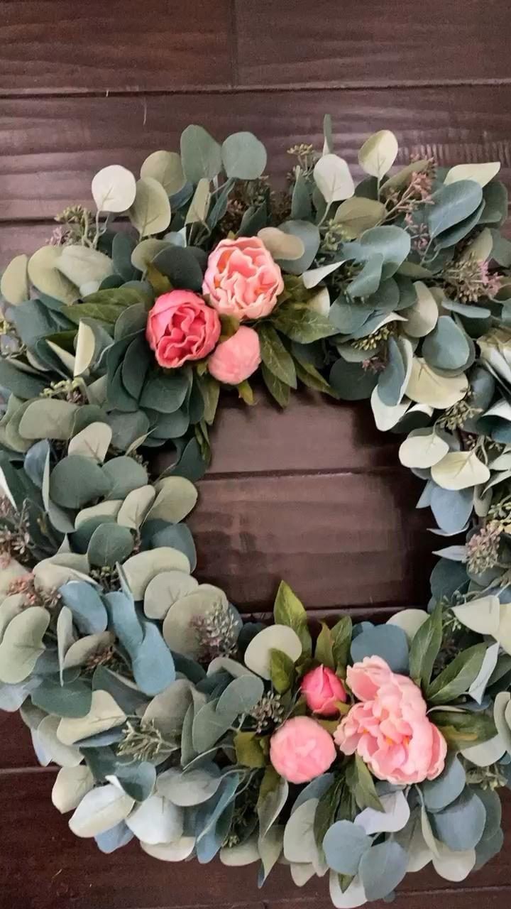 Photo of Eucalyptus peony wreaths