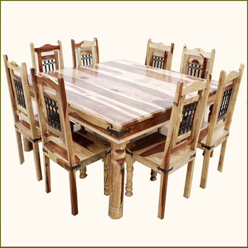 Make your dining experience texas size with the dallas square 9pc dining room table and chair Dining room furniture dallas