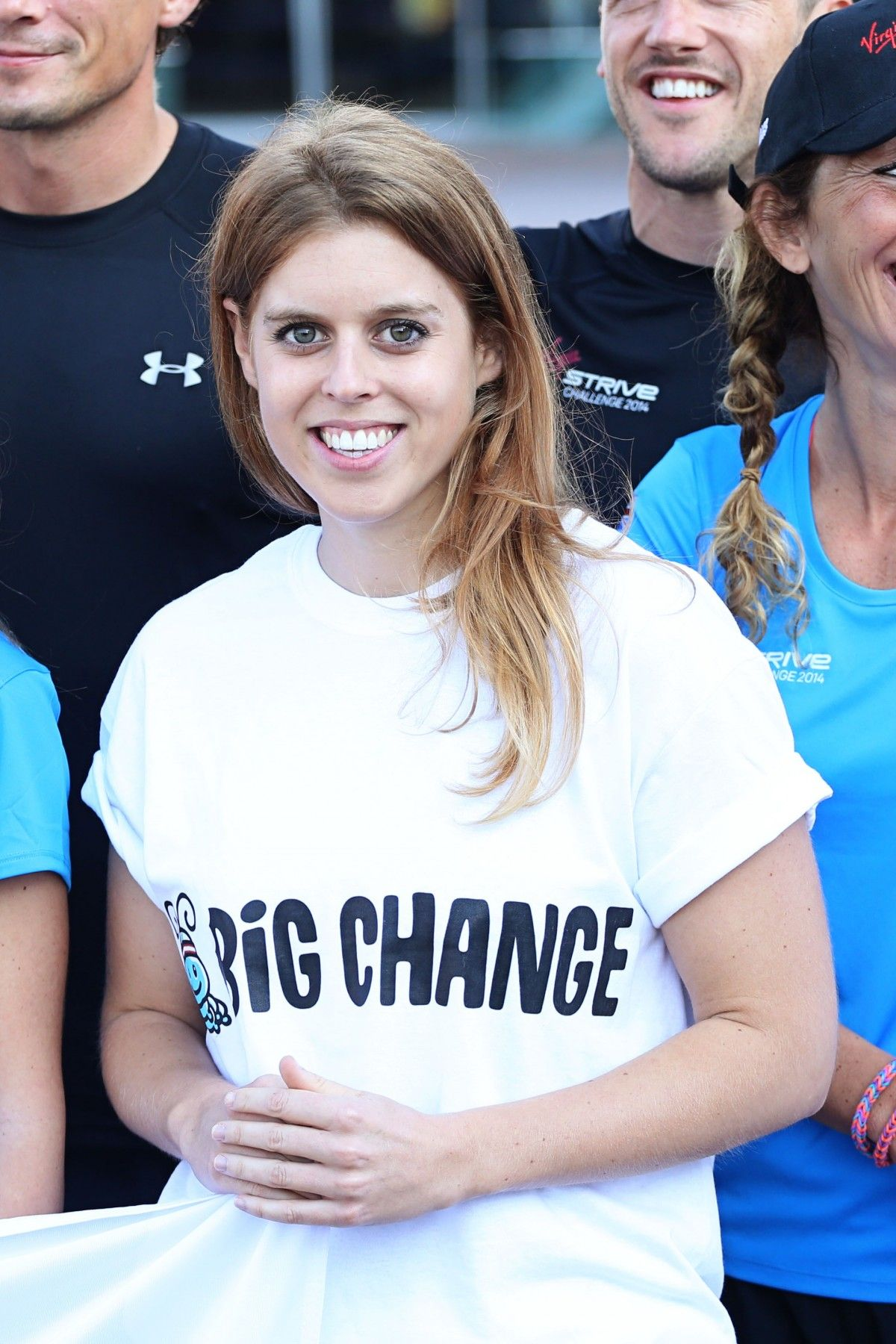 Princess Beatrice wore a Tshirt with her charity's name