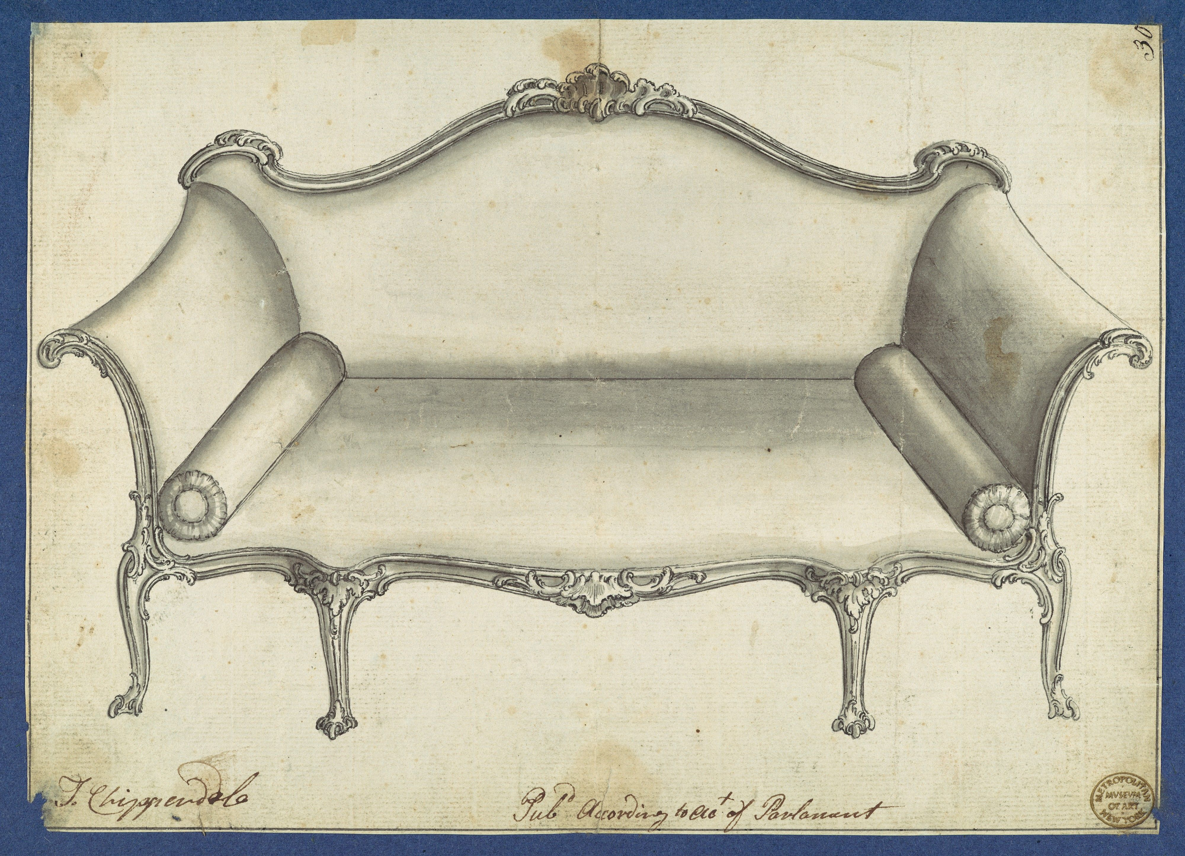 Chippendale sofaschippendale sofas - Chippendale Sofa Sofa From Chippendale Drawings Vol I Thomas Chippendale