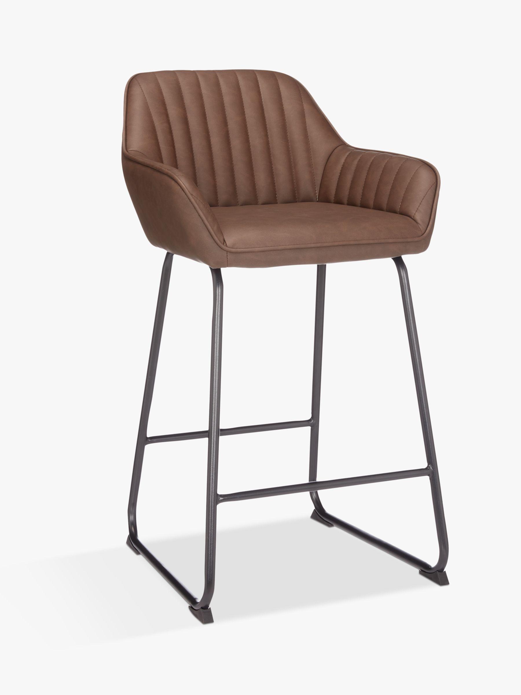 John Lewis & Partners Brooks Bar Chair, Antique Brown  Bar chairs