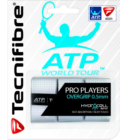 ATP PRO PLAYERS : Overgrip extremely durable and absorbent. Absorbs moisture up to 5 times faster than a traditional overgrip. Ideal for tight games where the pressure ups a notch and you need an ultra reliable power , even when sweating a maximum. Also available in pack of 12 or 30.
