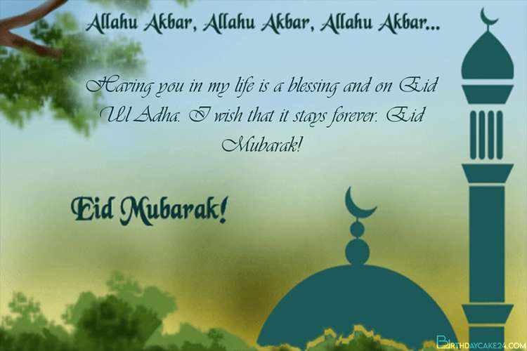 Pin On Islamic Eid Ul Adha Mubarak Greeting Cards 2021