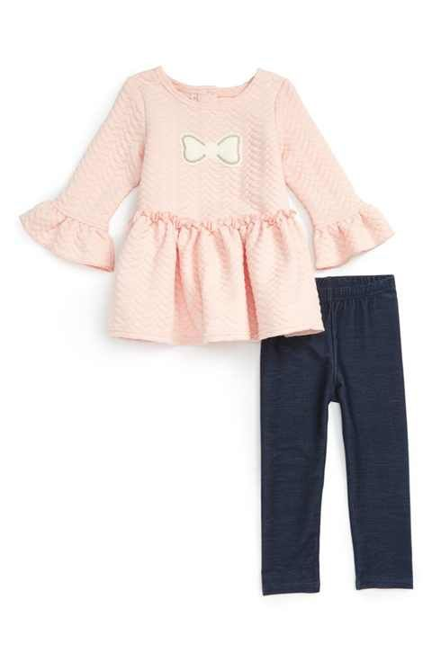 Pippa & Julie Bow Tunic & Leggings Set (Toddler Girls)
